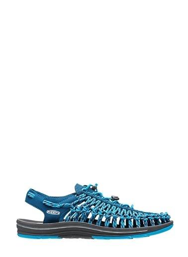 Keen İp Örgülü Sandalet Mavi